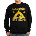 CAUTION BOX JUMPS - BLACK Sweatshirt