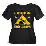 CAUTION BOX JUMPS - BLACK Plus Size T-Shirt