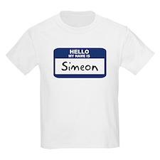 Hello: Simeon Kids T-Shirt
