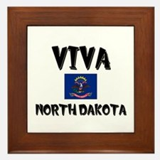 Viva North Dakota Framed Tile