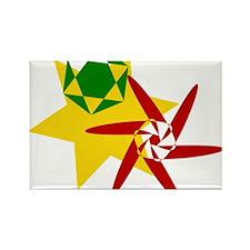Rastafarian Colors Rectangle Magnet