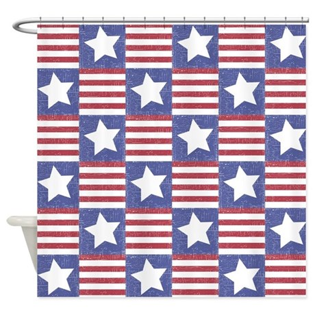 Mold Resistant Shower Curtain Hearts and Stars Shower Curtain