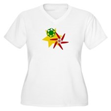 Rastafarian Color Plus Size T-Shirt