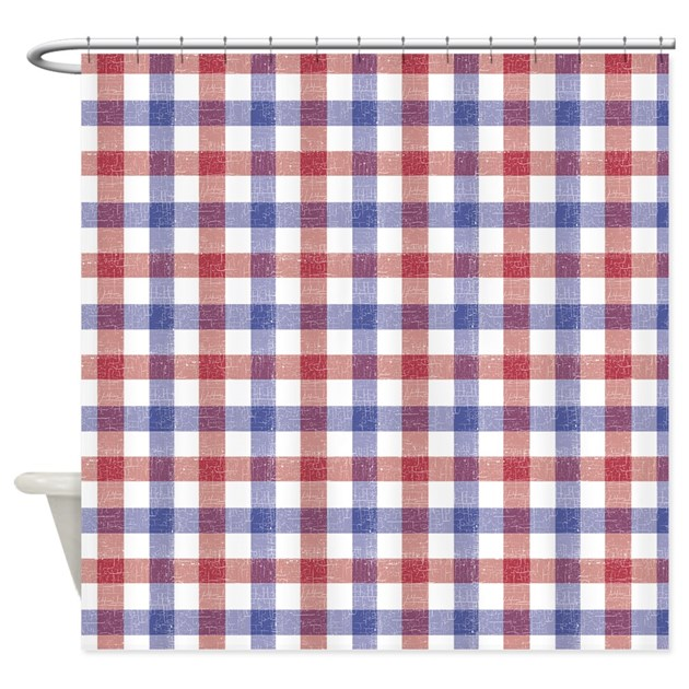 Red And Blue Plaid Tablecloth Shower Curtain By Be