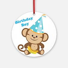 Birthday Boy Monkey Ornament (Round)
