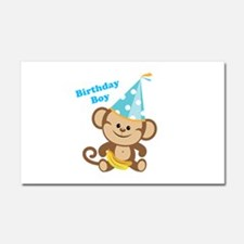 Birthday Boy Monkey Car Magnet 20 x 12