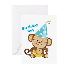 Birthday Boy Monkey Greeting Card