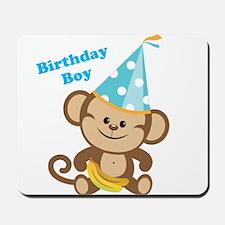 Birthday Boy Monkey Mousepad