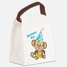 Birthday Boy Monkey Canvas Lunch Bag