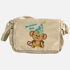 Birthday Boy Monkey Messenger Bag