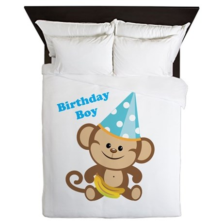 Birthday Boy Monkey Queen Duvet