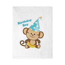 Birthday Boy Monkey Twin Duvet