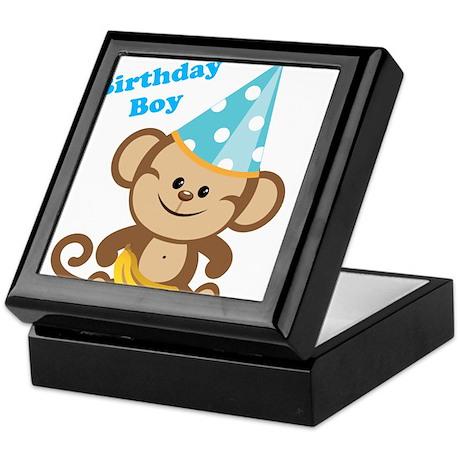 Birthday Boy Monkey Keepsake Box