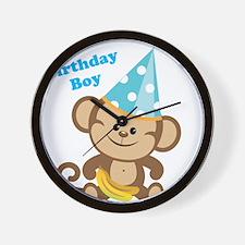 Birthday Boy Monkey Wall Clock