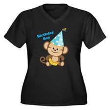 Birthday Boy Monkey Plus Size T-Shirt
