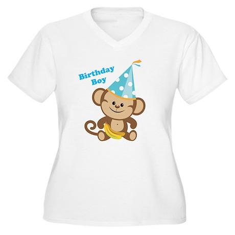 Birthday Boy Monkey Plus Size T-Shirt