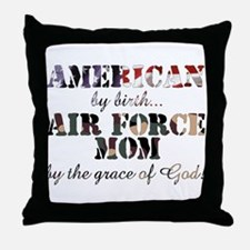 AF Mom by grace of God Throw Pillow