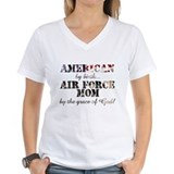Air force mom Womens V-Neck T-shirts