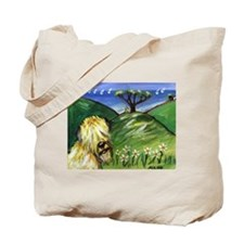 Wheaten by the ocean Tote Bag