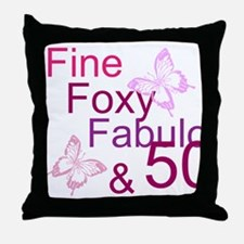 Fine 50 Throw Pillow