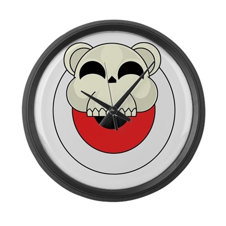 Bear target skull large wall clock by cannonarts for Large wall clocks target
