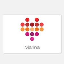 I Heart Marina Postcards (Package of 8)