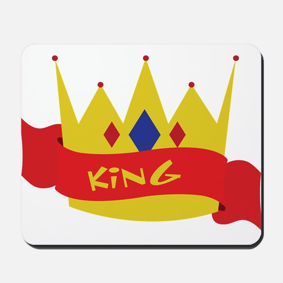 King Crown Ribbon Mousepad