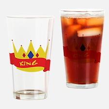King Crown Ribbon Drinking Glass