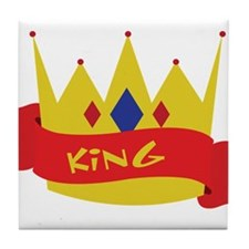 King Crown Ribbon Tile Coaster
