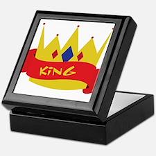 King Crown Ribbon Keepsake Box
