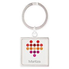 I Heart Maritza Square Keychain