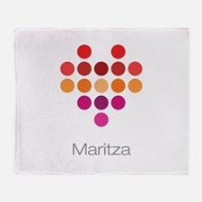 I Heart Maritza Throw Blanket