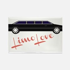 Limo Love Rectangle Magnet