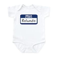 Hello: Rolando Infant Bodysuit