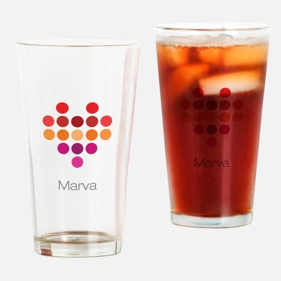 I Heart Marva Drinking Glass
