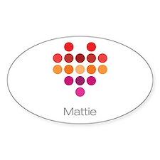 I Heart Mattie Decal