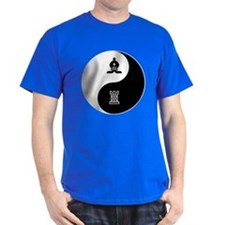 Bishop-Rook yin yang T-Shirt