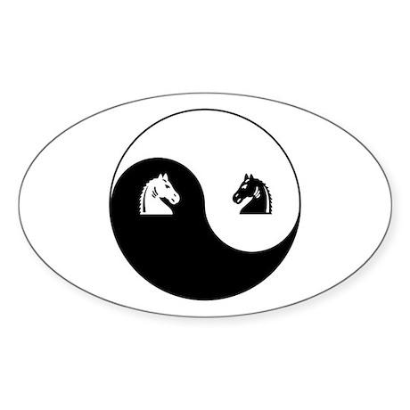 Knight-Knight yin yang Oval Sticker