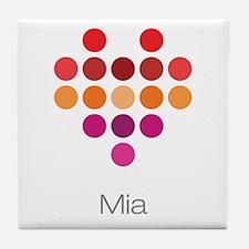 I Heart Mia Tile Coaster