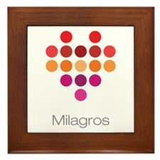 I Heart Milagros Framed Tile