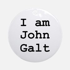 I am John Galt 01.png Ornament (Round)