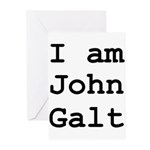 I am John Galt 01.png Greeting Cards (Pk of 20)