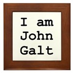I am John Galt 01.png Framed Tile