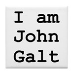 I am John Galt 01.png Tile Coaster