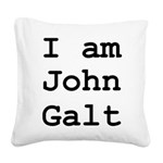 I am John Galt 01.png Square Canvas Pillow