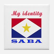 My Identity Saba Tile Coaster