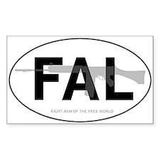 FAL Oval Bumper Stickers