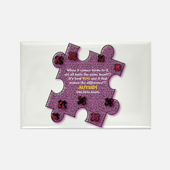 Autism Have A Heart Rectangle Magnet