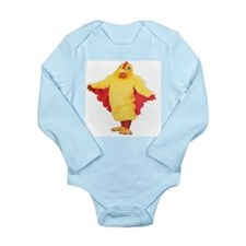 Long Sleeved Infant Bodysuit with Chicken Suit Man