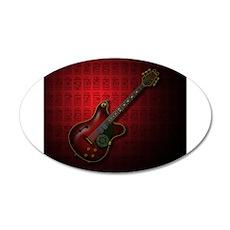 KuuMa Guitar 08 (R) 20x12 Oval Wall Decal